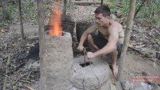 Doğada Tek Başına Yaşayan Adamdan Fırın Yapımı