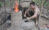 Doğada Tek Başına Yaşayandan Fırın Yapımı